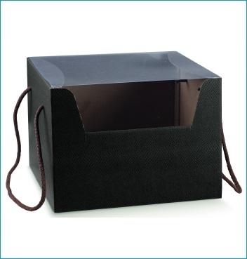 Schachtel mit Kordel - PRESTIGE c/cordini - Dekor Skin Coffee
