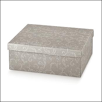 Schachtel mit Deckel - TAP-ec - Dekor Damascato Tortora