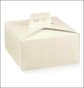 Schachtel - Quadra - Dekor Pelle Bianco
