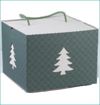 Schachtel mit Kordel - IN con cordino - Dekor Matelasse Eucalipto