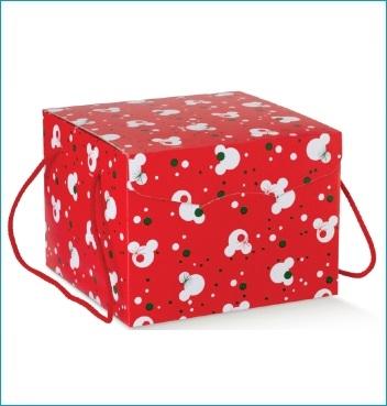 Schachtel mit Kordel - Segreto c/cordini - Dekor Mickey's Christmas