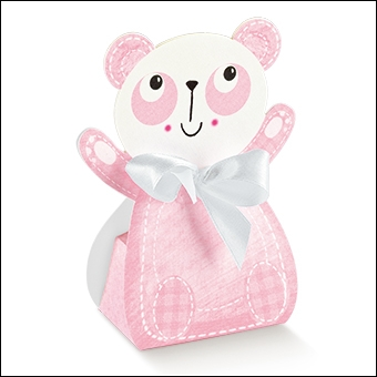 Schachtel - Panda - Dekor Amici Rosa