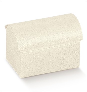 Schachtel Truhe - Cofanetto - Dekor Pelle Bianco