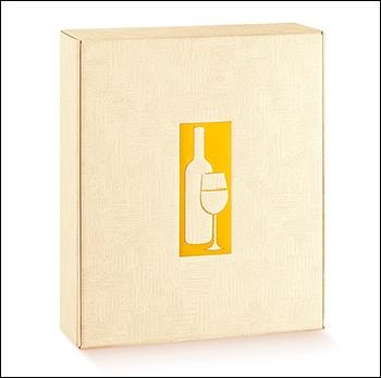 Flaschenkarton - Dekor Tela Neutro