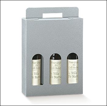 Flaschenkarton - Dekor Pelle Grigio