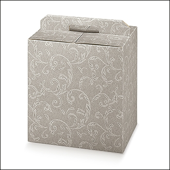 Geschenkverpackung - Portapanettone + Bott. - Dekor Damascato Tortora