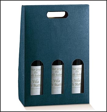 Flaschenkarton - Dekor Juta Blu