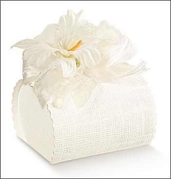 Schachtel - Bombon - Dekor Seta Bianco