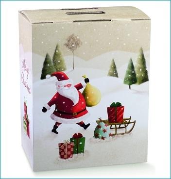 Geschenkverpackung - Cubotto - Dekor Santa Claus SLED