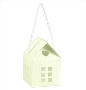 Schachtel mit Kordel - Casetta c/cordini - Dekor Matelasse Bianco