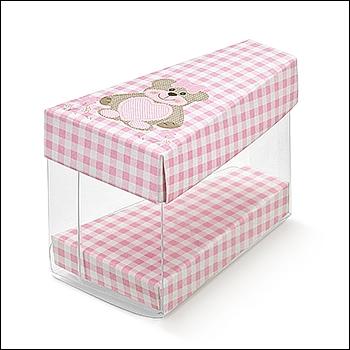 Schachtel Törtchen - Fetta Torta - Dekor Teddy Bear Rosa
