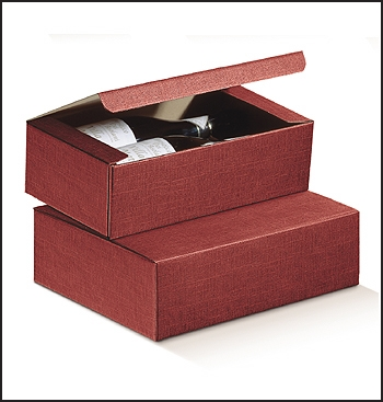 Flaschenkarton - Dekor Seta Bordeaux