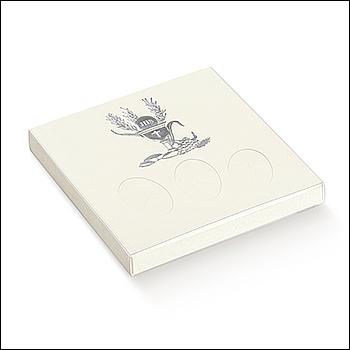 Schachtel mit transp. Schiebedeckel - 3 Confetti - Dekor Signum Argento