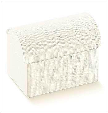 Schachtel Truhe - Cofanetto - Dekor Seta Bianco