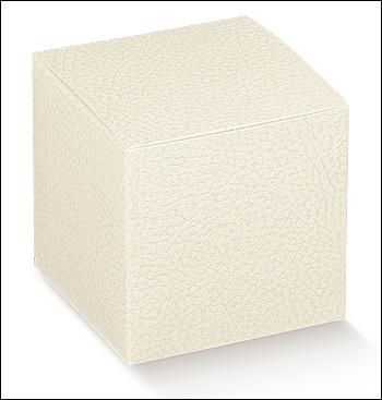 Schachtel mit Deckel - Pieghevole - Dekor Pelle Bianco