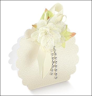 Schachtel Tasche Wolke - Borsa Rotonda - Dekor Pelle Bianco