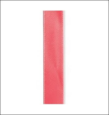 Geschenkband - DOPPIO RASO - 15 mm x 50 m - Dekor Corallo