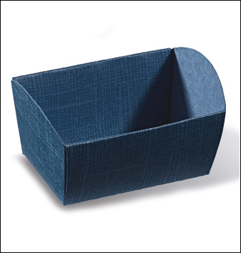 Geschenkkorb - Cesto - Dekor Juta Blu