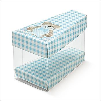Schachtel Törtchen - Fetta Torta - Dekor Teddy Bear Azzurro