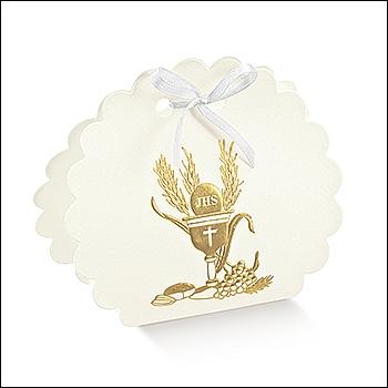 Schachtel Tasche Wolke - Borsa Rotonda - Dekor Signum Oro