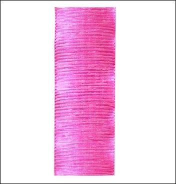 Geschenkband - Seta Grezza - 25 mm x 25 m - Dekor Fuxia