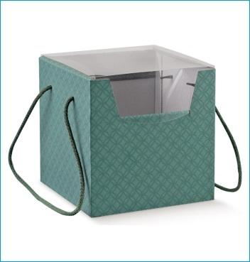 Schachtel mit Kordel - PRESTIGE c/cordini - Dekor Matelasse Eucalipto