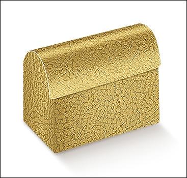 Schachtel Truhe - Cofanetto - Dekor Pelle Oro