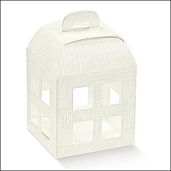Schachtel - Lanterna - Dekor Tela Bianco