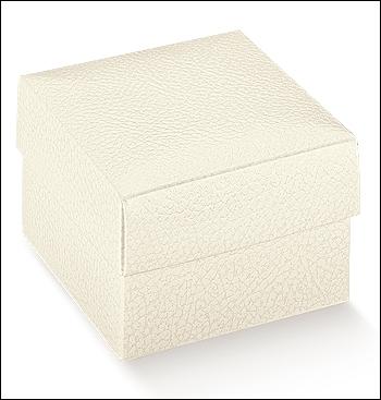 Schachtel mit Deckel - Fondo + Cop - Dekor Pelle Bianco