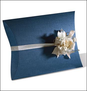 Schachtel Fixbox - Busta - Dekor Juta Blu