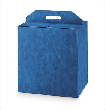 Geschenkverpackung - Portapanettone + Bott. - Dekor Tela Bluette