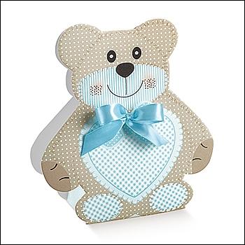 Schachtel - Orsetto Medio - Dekor Teddy Bear Azzurro