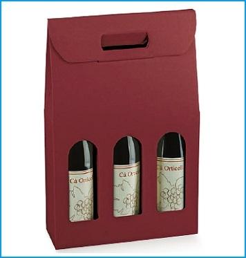 Flaschenkarton - Dekor Kraft Bordeaux