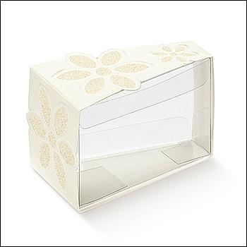 Schachtel Törtchen - Fetta Torta - Dekor Fiore Glitter