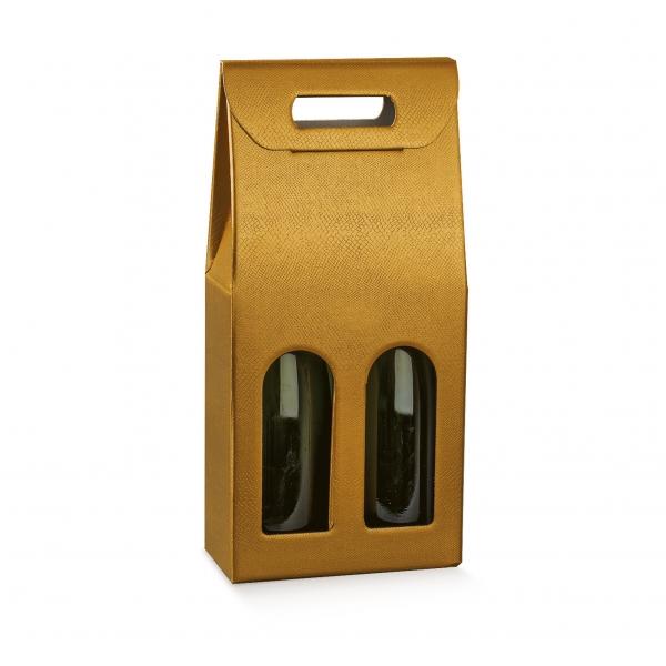 Weinverpackung für 2 Flaschen - SCATOLA 2 BOTT. (180x90x385 mm)