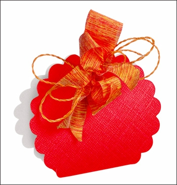 Schachtel Tasche Wolke - Borsa Rotonda - Dekor Seta Rosso