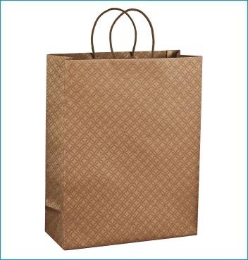 Papiertüte mit Kordel - Shopper Cordino - Dekor Matelasse Avana