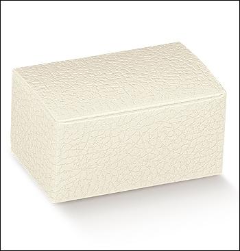 Schachtel - Rivestita - Dekor Pelle Bianco