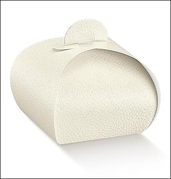 Schachtel Törtchen - Tortina - Dekor Pelle Bianco