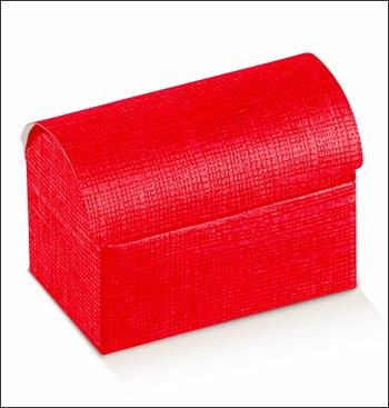 Schachtel Truhe - Cofanetto - Dekor Seta Rosso