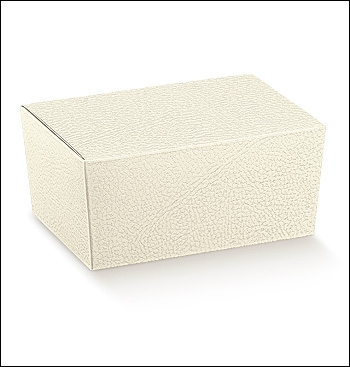 Schachtel - Ballottin - Dekor Pelle Bianco
