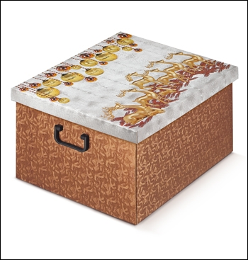 Ordnungsbox mit Plastikgriff - Dekor Renne Dorate