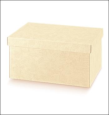 Schachtel mit Deckel - TAP-ec - Dekor Tela Neutro