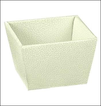 Presentkorb VASSOIO CONICO - Dekor Pelle Bianco