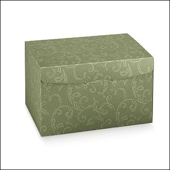 Schachtel - Segreto - Dekor Damascato Verde
