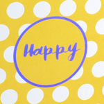Dekor Happy Giallo/Lilla