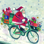 Dekor Santa's on Bike