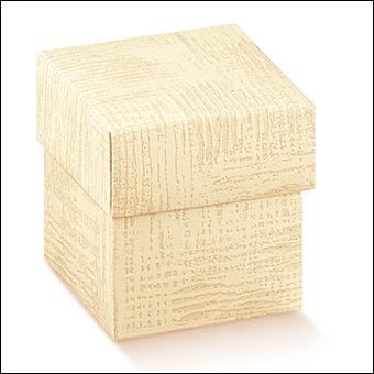 Schachtel mit Deckel - F/C-dp - Dekor Tela Neutro