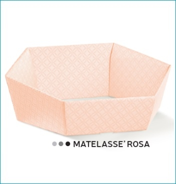 Presentkorb VASSOIO ESAGONO - Dekor Matelasse Rosa