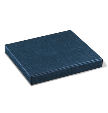 Schachtel - Scatola Cornice - Dekor Juta Blu